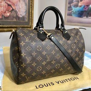 Louis Vuitton Monogram Speedy 30 Handbag 👜 Black